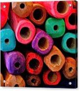 Wood Flutes Acrylic Print