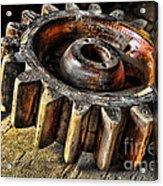 Wood Gears Acrylic Print
