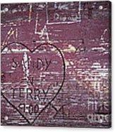 Wood Graffiti Acrylic Print