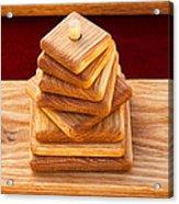 Wood Puzzle Acrylic Print