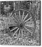 Wood Spoke Wheel Acrylic Print
