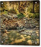 Woodard Park Koi Pond Acrylic Print by Tamyra Ayles