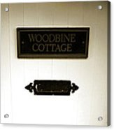 Woodbine Cottage - In Bakewell Town Peak District - England Acrylic Print
