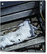 Wooden Bench With Snow 1 Acrylic Print