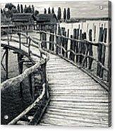 Wooden Boardwalk Acrylic Print