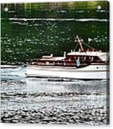 Wooden Boat With Skiff Acrylic Print