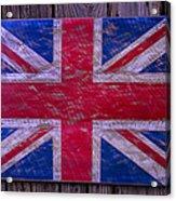 Wooden British Flag Acrylic Print