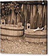 Wooden Buckets Acrylic Print