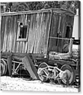 Wooden Caboose Acrylic Print