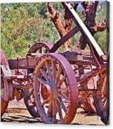 Wooden Cart Acrylic Print