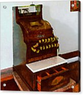 Wooden Cash Register Acrylic Print