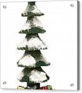 Wooden Christmas Tree With Gifts Acrylic Print
