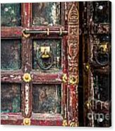 Wooden Door Acrylic Print by Catherine Arnas