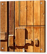 Wooden Door Detail Acrylic Print by Carlos Caetano