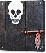 Wooden Door Acrylic Print by William Voon