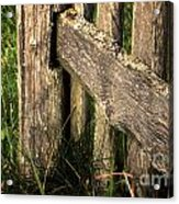 Wooden Fence Fragment Acrylic Print