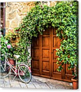 Wooden Gate With Plants In An Ancient Acrylic Print