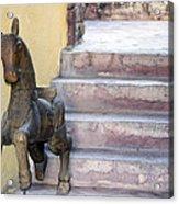 Wooden Horses 2 Acrylic Print