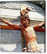 Wooden Jesus Acrylic Print