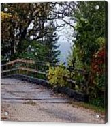 Wooden Lane Acrylic Print