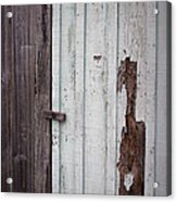 Wooden Latch Acrylic Print