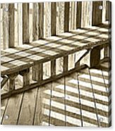 Wooden Lines - Semi Abstract Acrylic Print