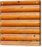 Wooden Logs Wall Background Acrylic Print