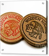 Wooden Nickels Acrylic Print