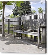 Wooden Park Benches Acrylic Print