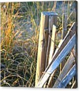 Wooden Post And Fence At The Beach Acrylic Print