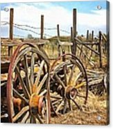 Wooden Ranch Wagon Acrylic Print