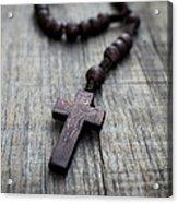 Wooden Rosary Acrylic Print
