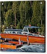 Wooden Runabouts Of Tahoe Acrylic Print