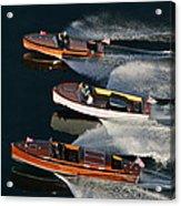 Wooden Runabouts On Lake Tahoe Acrylic Print