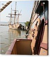 Wooden Sailingships Acrylic Print