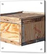 Wooden Shipping Box Acrylic Print