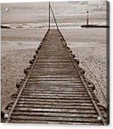 Wooden Slipway Rhos On Sea Acrylic Print