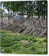 Wooden Spiked Fence Acrylic Print