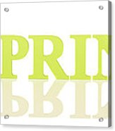 Wooden Spring Letters Acrylic Print