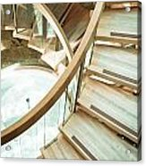 Wooden Staircase Acrylic Print