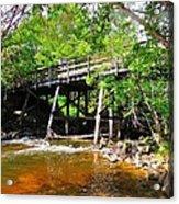 Wooden Suspension Bridge Acrylic Print