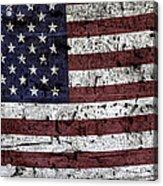 Wooden Textured U. S. A. Flag Acrylic Print