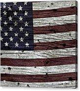 Wooden Textured Usa Flag3 Acrylic Print