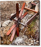 Wooden Water Wheel Acrylic Print