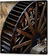 Wooden Water Wheel Acrylic Print by Paul Ward