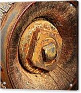Wooden Wheel Hub Acrylic Print