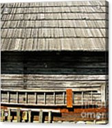Wooden Window And Roof  Acrylic Print