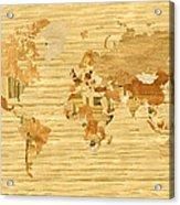 Wooden World Map 2 Acrylic Print