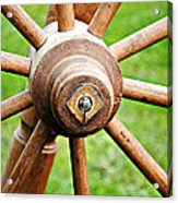 Woodenspoke Acrylic Print by Stephanie Grooms