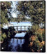 Woodfoot Bridge Of Williams Bay Wi Over Geneva Lake  Acrylic Print